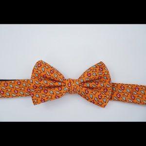 Vineyard Vines Fall Leaves Orange Bow Tie